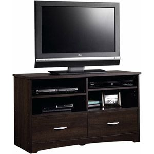 "Sauder Beginnings TV Stand for TVs up to 46"" overall dimensions: 41.58""W x 16.14""D x 24.09""H $89"