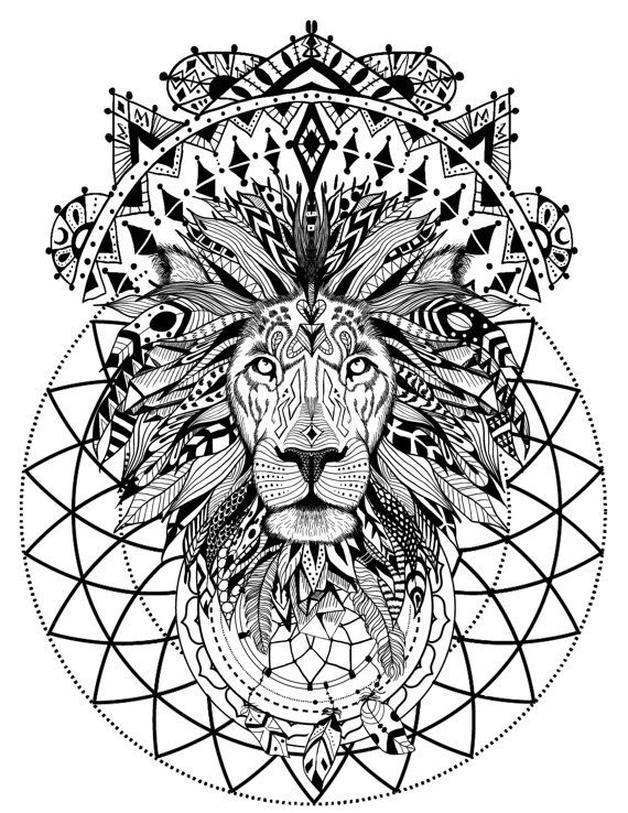 The 25 best ideas about mandala lion on pinterest for Lion mandala coloring pages