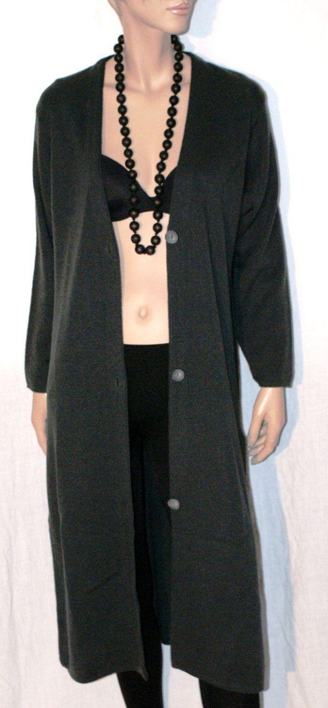 Wonderful Woman Cardigan Grignasco Wool Size M L Alma Righi di Rovereto Pret a Porter Cardigan Lungo Donna Color Grigio Scuro Taglia 46/48 di BeHappieWorld su Etsy