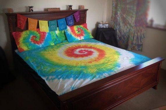 Tie Dye Spiral Tie Dye Swirl Tie dye Bedding by EarthBoundTribe