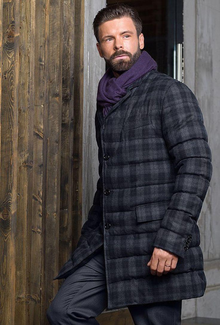 Мужская коллекция. Шерстяное пальто в клетку. Laplandia For Man