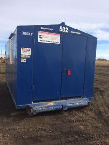 Cummins 300 Kilowatt diesel generator set in steel building