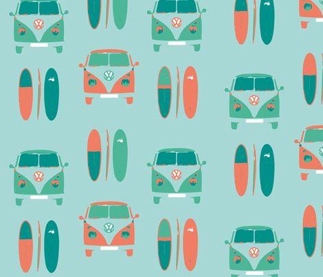 CAMPER_VAN_SURF_ fabric by gemmacosgrove-ball on Spoonflower - custom fabric