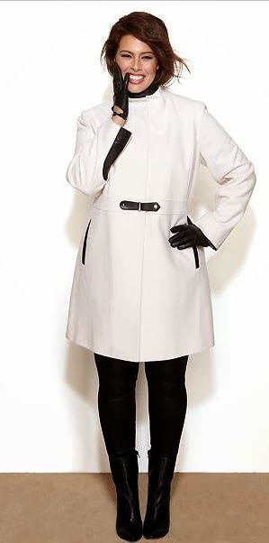 MICHAEL Michael Kors Plus Size Coat, Wool-Blend Mixed-Media Colorblock…