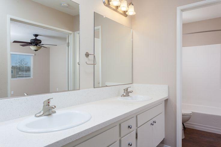 Dual Vanity sinks at Serena Vista Apartment Homes #homedecor #bathroom #apartments #apartmentlife #modern