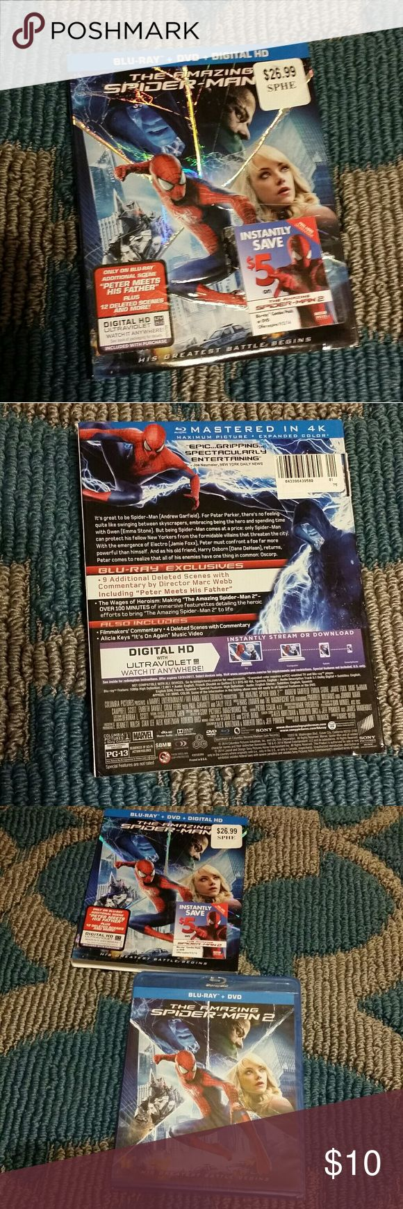 Spider-Man 2 movie blue Ray new not open box The amazing Spider-Man movie 2 blue Ray new not open spader-man movie  Other