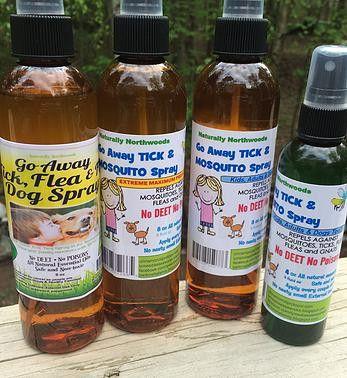 8 oz Go Away Tick, Mosquito, Fleas and Flies Bug Spray No Deet For Kids and Dogs