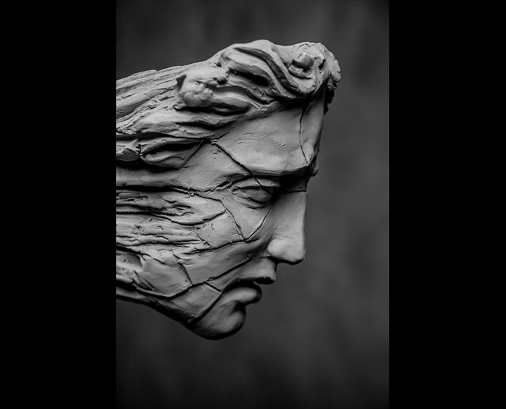 Michal Jackowski, SCREAM OF EARTH, terracota, 2016  #sculptures #body #artact #humans #antique #pinart #creative #passion #love #art #classic #face #exhibition #polishart #head #scream #earth