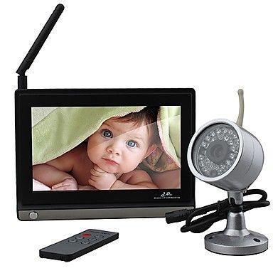7 pouces moniteur pour bébé (1 caméra sans fil vision de nuit + télécommande) – EUR € 87.44