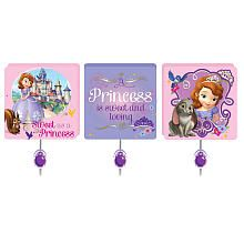 Disney Jr Sofia The First 3 Pack Wall Hooks