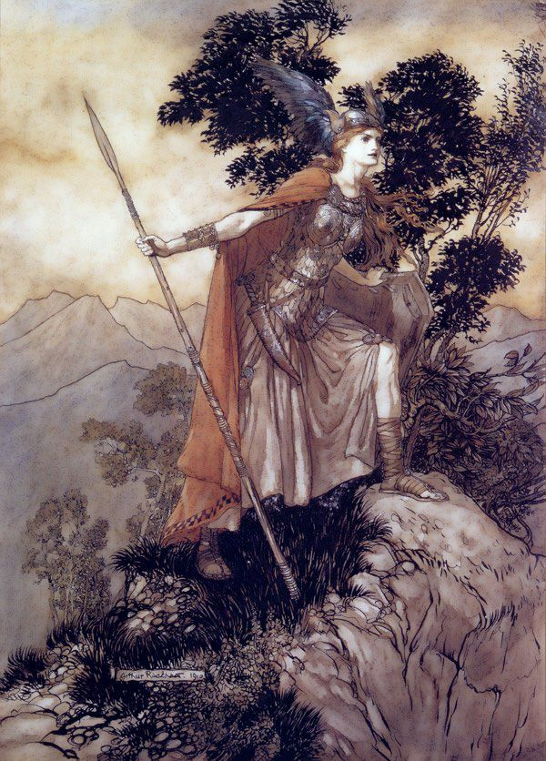 Brunhilde/Brynhildr was a strong and beautiful shieldmaiden and valkyrie in Norse mythology, who was cruelly betrayed by her lover.