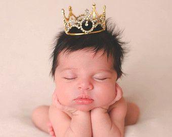 NEUGEBORENEN Krone Baby Krone Strass Krone Crown von LilPinkGoose