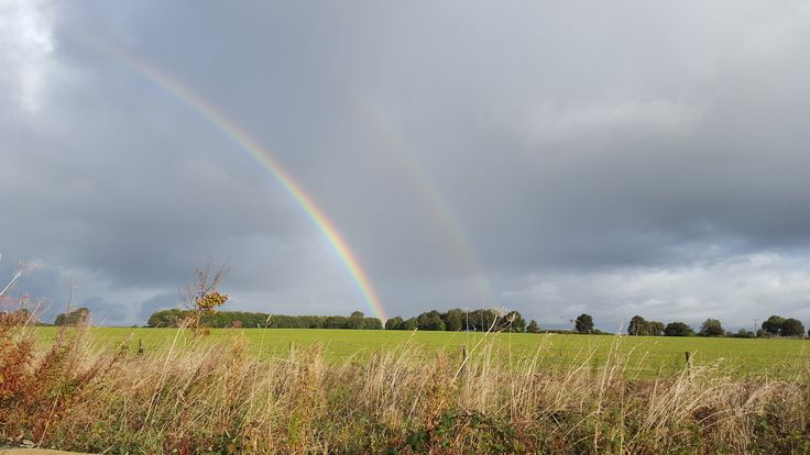 Double rainbow – the benefits of September rain showers :) http://www.calcot.co