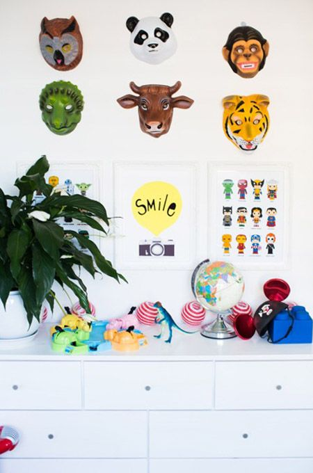 honey and fizz via Adore mag boys room masks