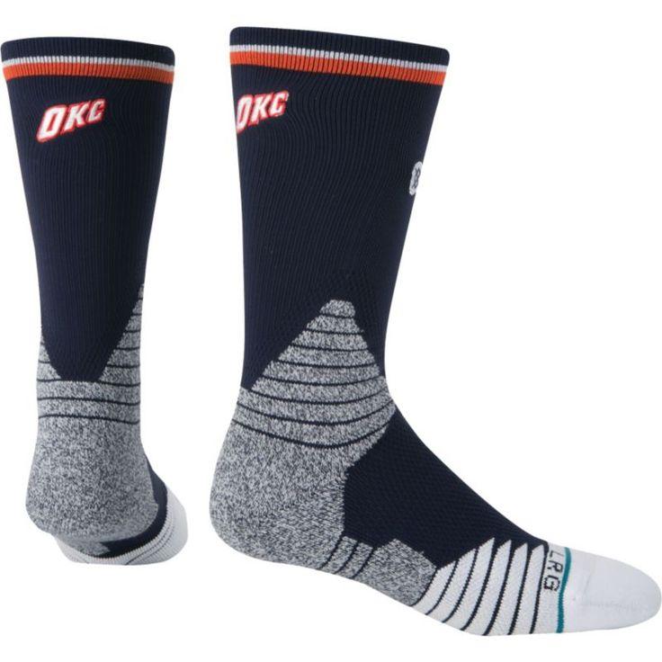 Stance Oklahoma City Thunder On Court Logo Crew Socks, Adult Unisex, Size: Large