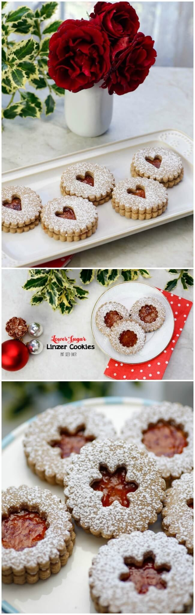 Now you can enjoy your cookies without the guilt with this Lower Sugar Linzer Cookie Recipe. Swap out half the sugar with Stevia @intherawbrand for less sugar and calories!