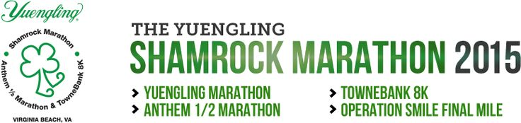 Shamrock Marathon 2015 | March 20-22, 2015 | Virginia Beach Oceanfront