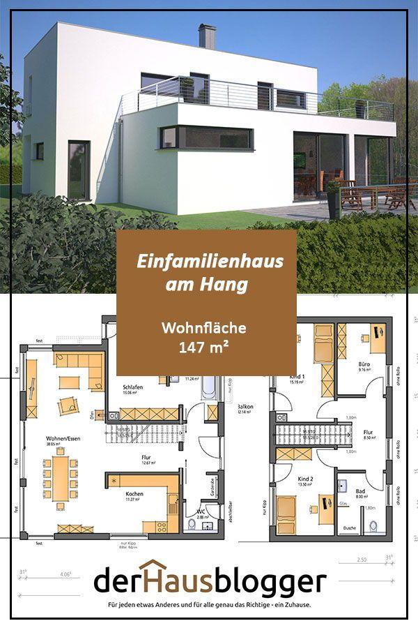hanghaus wohnflaeche 147 m2 in 2019 grundrisse haus. Black Bedroom Furniture Sets. Home Design Ideas