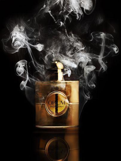 Still life Photographer Candice Milon - Still life, perfume #smoke #Yves Saint Laurent.
