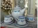 Hrníček čajový/kávový ~  dekor s lístečky