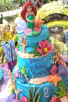 Little mermaid cake idea