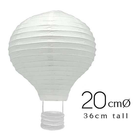 Lanterne di carta bianco Hot Air Balloon 6 8 pollici (20cm) - matrimonio, compleanno, Party, Baby Shower, Nursery, decorazione domestica, artigianato DIY