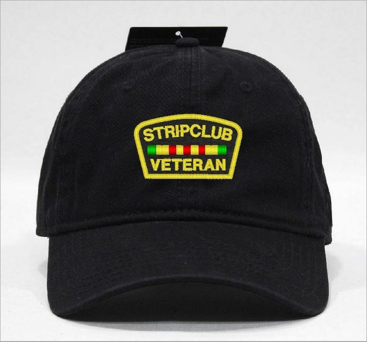 STRIPCLUB VETERAN HAT via Hats 4 U. Click on the image to see more!