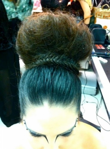 Hair and makeup for the November 4th, Alexander McQueen-themed graduation/fashion show.