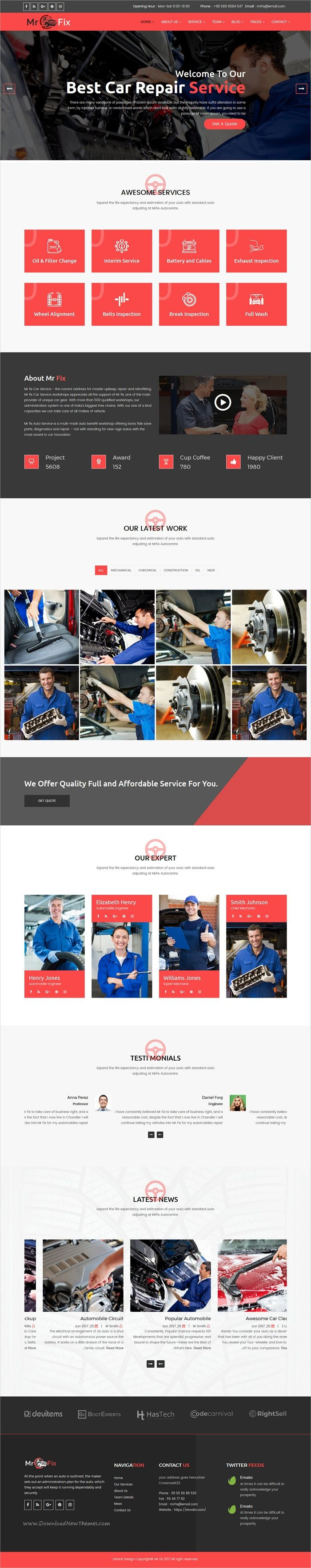 Mr fix is a wonderful responsive html bootstrap template for car repair workshop website download now https themeforest net item mr fix car r