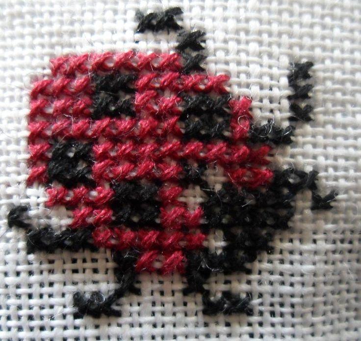 Gratis kruissteek patronen van insecten - Hobby