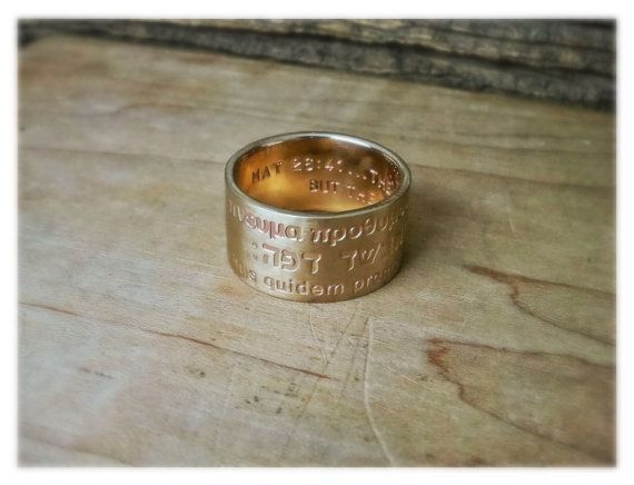 Engraved Gold Band 12mm Ring Custom Made To Order Gift Etsy Mens Gold Wedding Band Mens Wedding Bands Personalized Gifts Jewelry