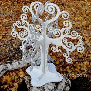 Купить свадебный сувенир большое деревянное дерево с покраской в магазине Kroko&woodi | Кроко