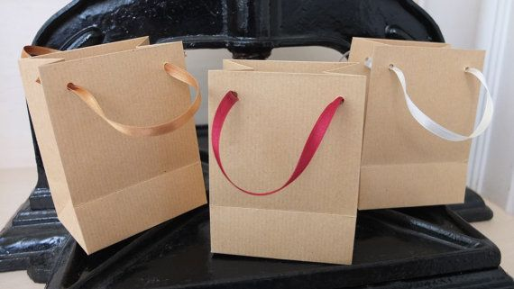Extra small natural brown kraft paper bags. by HandMadePaperBags
