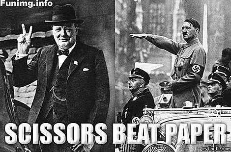WWII...History, Rocks Paper Scissors, Peace, Funny, Beats Paper, Humor, Winston Churchill, Scissors Beats, True Stories