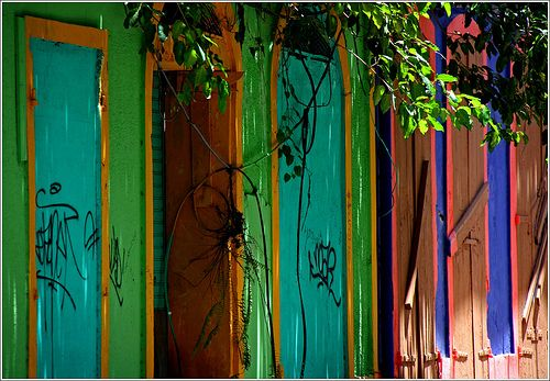 colorful caribbean  decay ...