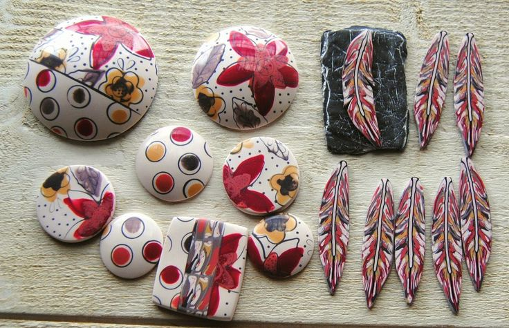 Polymer clay jewellery by annesophie-b: Que le temps passe vite!!!!