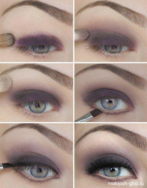 Purple Grey Smokey Eye Makeup Tutorial