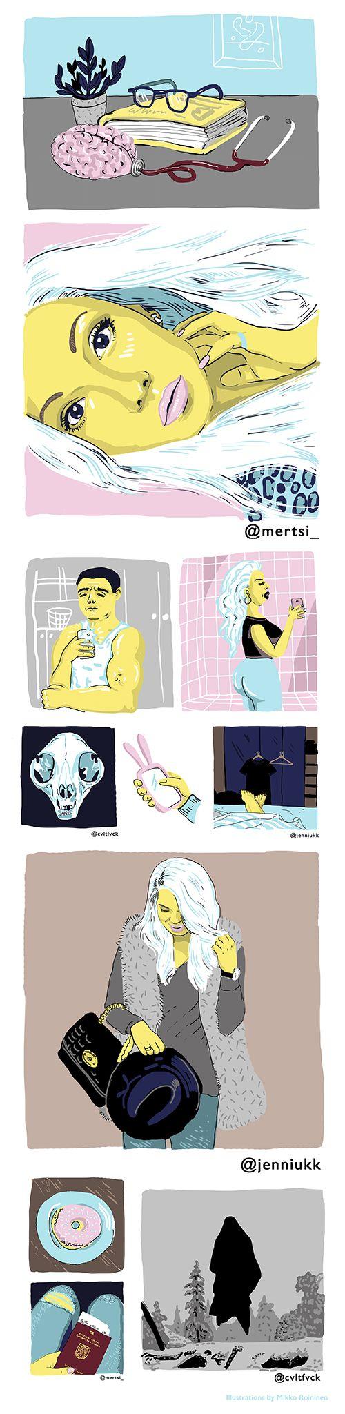 Illustrations for Lapin Kansa By Mikko Roininen