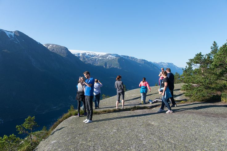 Marvelous view over fjord and glacier