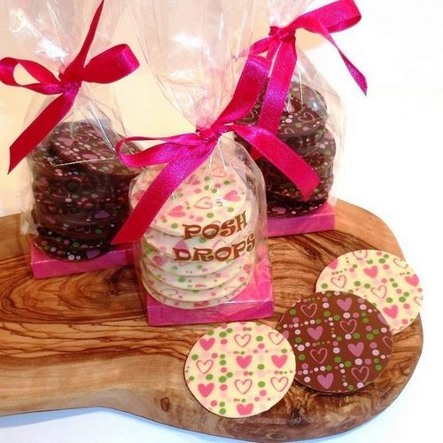 Heart Print Chocolate Posh Drops