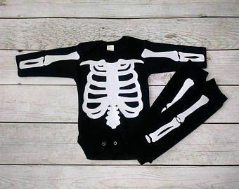 Baby boy Halloween costume Boy Halloween costume Toddler Skeleton Costume Infant Boy Halloween Skeleton Long Sleeve Shirt Leg Warmer