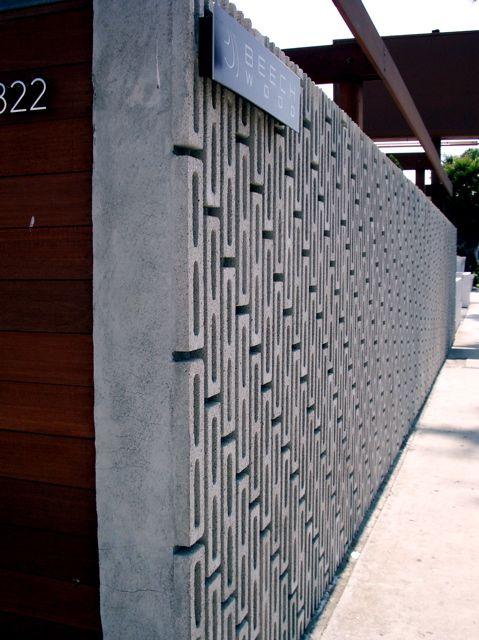 Concrete fence.  Repinned by Secret Design Studio, Melbourne.  www.secretdesignstudio.com