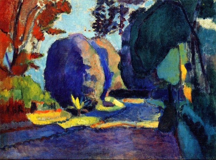 RL      Henri Matisse - The Luxembourg Gardens, 1902
