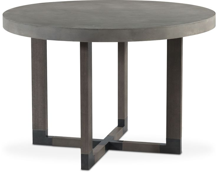 Dining Room Furniture - Malibu Round Counter-Height Concrete Top Table - Gray