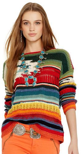 Polo Ralph Lauren Hand-Knit Serape Pullover on shopstyle.com