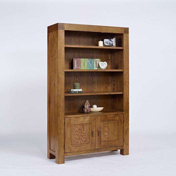 Santana Rustic Solid Oak Bookcase (Storage Cupboard) - - Bookcase - Ametis - Space & Shape - 4