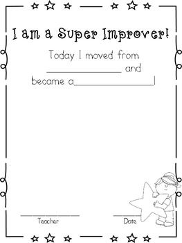 Using whole brain teaching?!  This correlates great with their super improvers wall.  Students can glue/tape their cards to this paper to say they have moved up on the super improvers wall!!  Very minimal prep for teachers!If you enjoy this freebie, please leave me a comment! :-)For more info on super improvers and Whole Brain Teaching, visit their site at www.wholebrainteaching.comThanks!