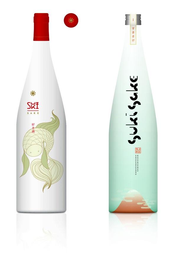 外人ウケしそうなボトル。どこのだろう。。 More beautiful #sake #packaging to share