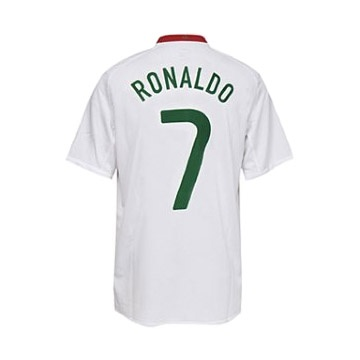 Nike Portugal Cristiano Ronaldo #7 Away Soccer Jersey (2008/09): http://www.soccerevolution.com/store/products/NIK_40422_A.php