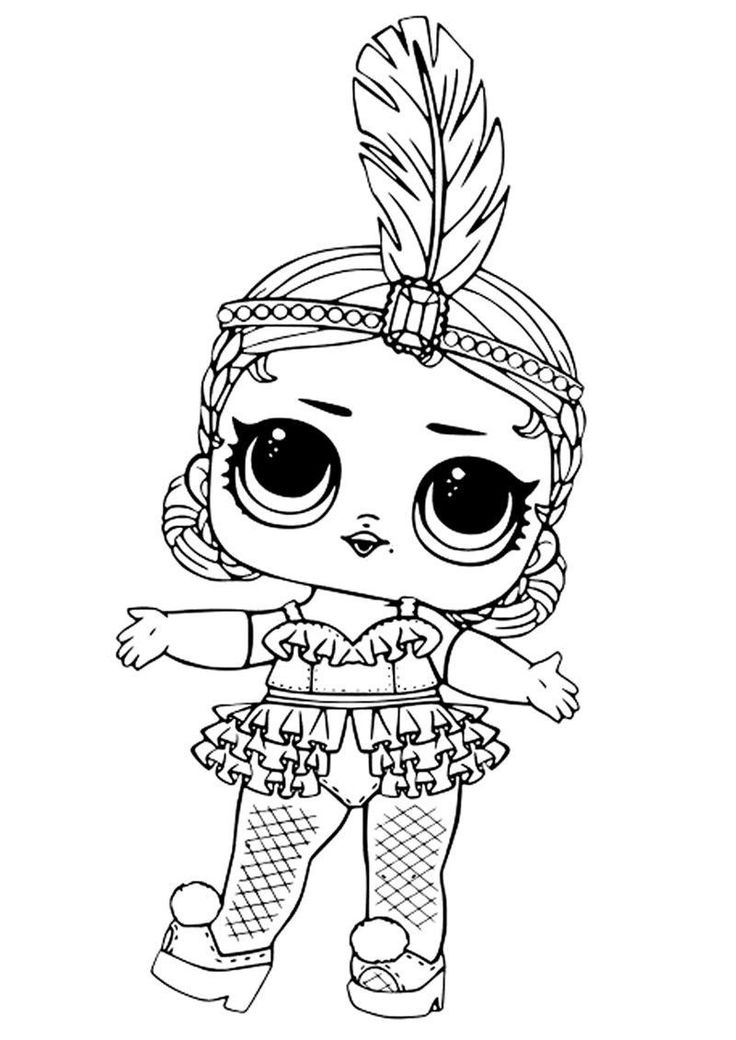 Lol Surprise Doll Coloring Pages Printable in 2020